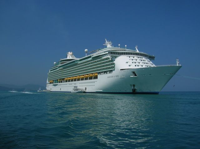 Royal Caribbean Ship at Anchor